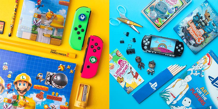 Zdjęcia z prywatnej kolekcji Super Mario Maker 2, Nintendo Switch Little Big Planet i Little Big Planet 3, PSP i PlayStation 4